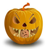 Halloween pumpkin — Stockvector
