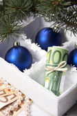 Money for Christmas — ストック写真