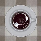 A cup of black tea — Stock Photo