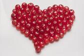 Сердце из черной смородины — Стоковое фото