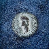 древняя римская монета — Стоковое фото
