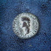 Antiga moeda romana — Foto Stock