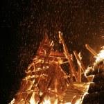A burning house — Stock Photo
