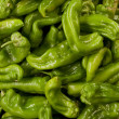 Background of green peppers - Stock Photo