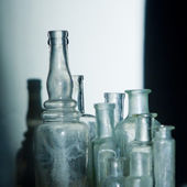 Old glass bottles — Stock Photo