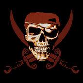 Pirate Skull — Stock Photo