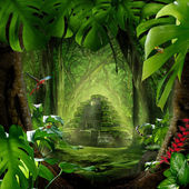 Diepe jungle — Stockfoto