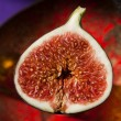 Half of a fig - Stock Photo