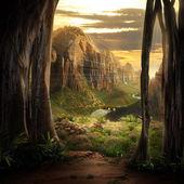 Paesaggio di fantasia — Foto Stock