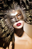 Beautiful woman with Venetian Mask — Stock Photo