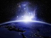 Luci sulla terra — Foto Stock