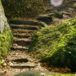 Stock Photo: Staircase between rocks