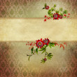 Vintage flower background — Stock Photo