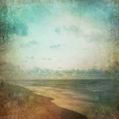Grunge Paper Beach Background — Stock Photo