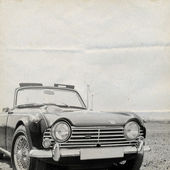 Oldtimer Background Triumph — Stock Photo