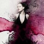 Avant-garde fashion portrait — Stock Photo