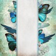 Vintage shabby chic background with butterfly — Stock Photo