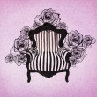 Stock Photo: Baroque Armchair Background