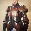 Stock Photo: medieval knight in armor