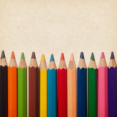 Lápices de colores de fondo — Foto de Stock
