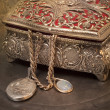 Stock Photo: Antique jewelry box