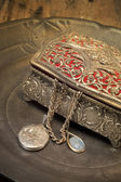 Antique jewelry box — Stock Photo