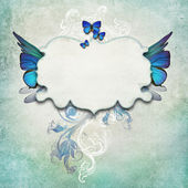 Vintage background with butterflies — Stock Photo