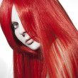 Stock Photo: Beautiful womwith red hair
