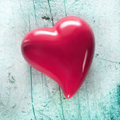 Shabby Chic Background with red heart — Stock Photo