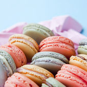 Shabby Chic Background with Macarons — Stok fotoğraf