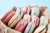 Shabby Chic Background with Macarons — Stockfoto