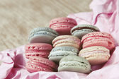 Shabby Chic Background with Macarons — Foto de Stock