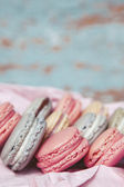Shabby Chic Background with Macarons — Photo