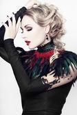Beautiful, romantic gothic styled woman — Stock Photo