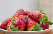 Aromatic ripe strawberries — Stock Photo