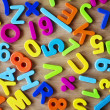 Letters and numbers in colors — Stock Photo #50582045