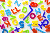 Letters and numbers of different colors — Stock Photo