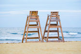 Baywatch chairs — Stock Photo