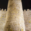 Stock Photo: Detail of battlements of walls of avila