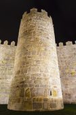 Detail of the battlements of the walls of avila — Stock Photo