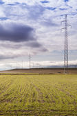 High voltage transmission lines — Stock Photo