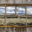 Stock Photo: Window of ruined factory