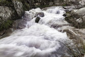 Turbulent river water — Stock Photo