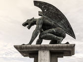 Sculpture of a gargoyle — Stock Photo
