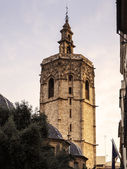 El Miguelete, the gothic bell tower of Valencia Cathedral in Spa — Stock Photo