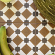 Still life with apples, bananas and melon — Stock Photo #34553849