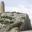 Old watchtower on Mediterranecoast — Stock Photo #40870909