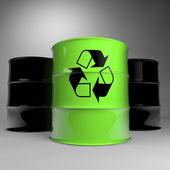 Barrels of petroleum — Stock Photo