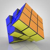 3d render mechanical puzzle — Stock Photo