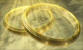 3d render of wedding rings — Stock Photo